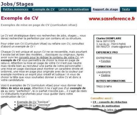 exemple de cv le parisien Emploi/Formation : Le journal Le Parisien vous offre des exemples  exemple de cv le parisien