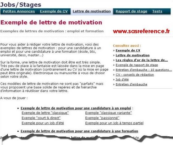 Modele De Lettre De Motivation Pour Un Stage En Immersion